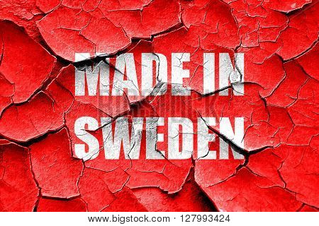 Grunge cracked Made in sweden