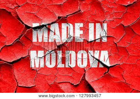 Grunge cracked Made in moldova