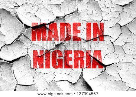 Grunge cracked Made in nigeria
