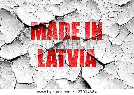 Grunge cracked Made in latvia