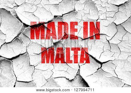 Grunge cracked Made in malta
