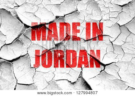 Grunge cracked Made in jordan