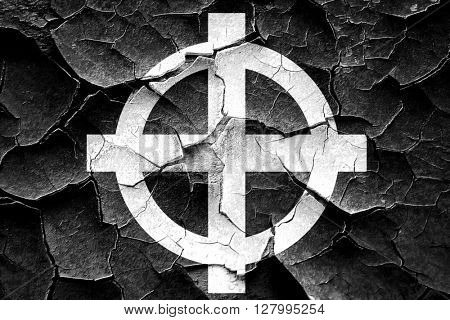Grunge cracked Celtic cross representation