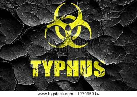 Grunge cracked Typhus concept background