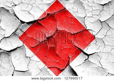 Grunge cracked Foxtrot maritime signal flag