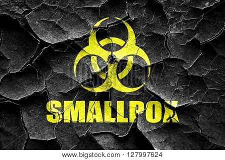 Grunge cracked smallpox concept background