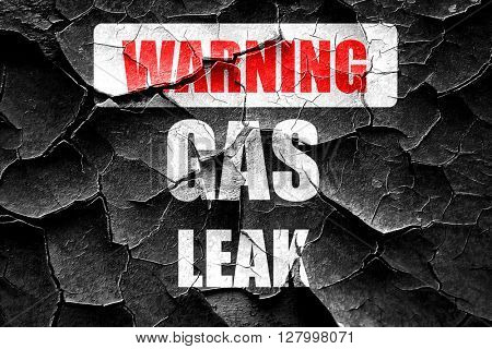 Grunge cracked Gas leak background