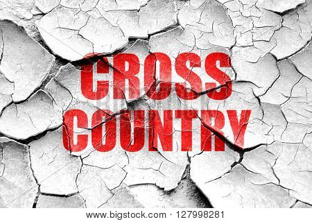 Grunge cracked cross country sign background