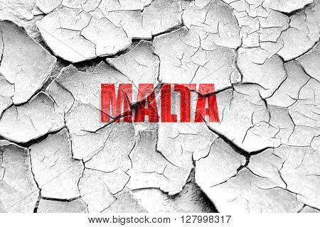 Grunge cracked Greetings from malta