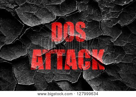 Grunge cracked DOS warfare background