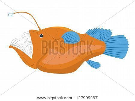 angler fish vector illustration isolated on white background