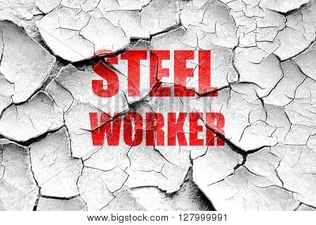 Grunge cracked Steel background with smooth lines