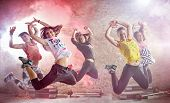 young people practicing dance fitness workout poster