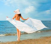 stock photo of nudism  - Nude Beach Wings - JPG