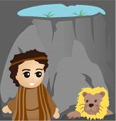 foto of bible story  - Daniel in the Lions Den  - JPG