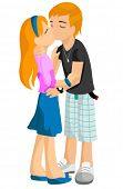 picture of pre-teen girl  - First Kiss  - JPG