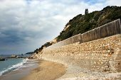 picture of atonement  - sand beach and cloudy sky in Greece - JPG