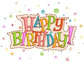 image of happy birthday  - Happy Birthday Design  - JPG
