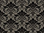 Seamless Damask Pattern - Vector