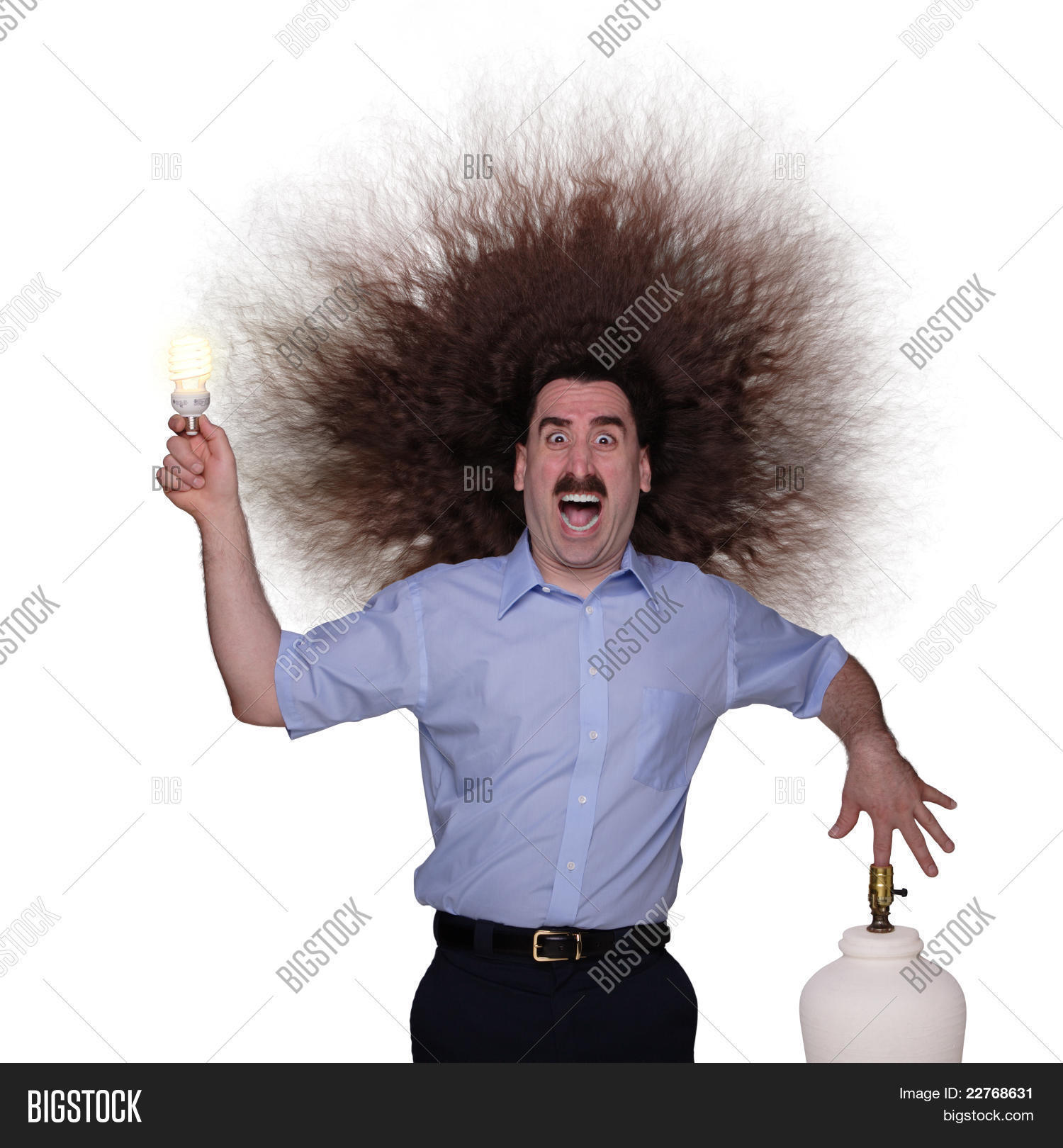 Long Haired Man being electrocuted 1