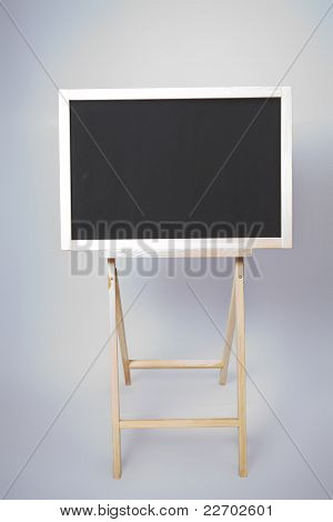 Blackboard. Isolated. Front View