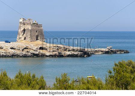 The Coast Of Gargano (puglia, Italy) At Summer