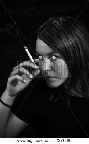 Girl Smoking A Cigarette