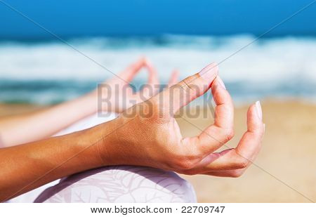 Yoga Meditation On The Beach