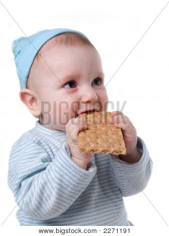 Child Eats Chunky Cookie