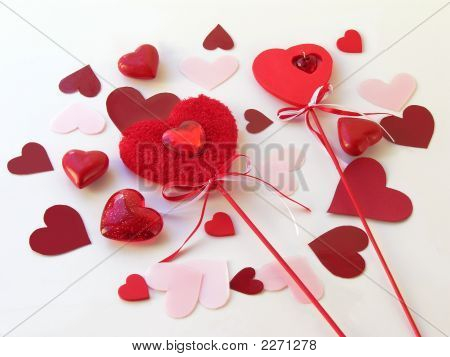 Red Symbolic Valentines Day Ornaments