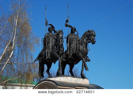 Russia. Moscow region. Monument to the old Russian saints.