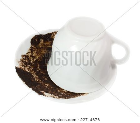 Guessing On A Coffee Thick Isolated On White