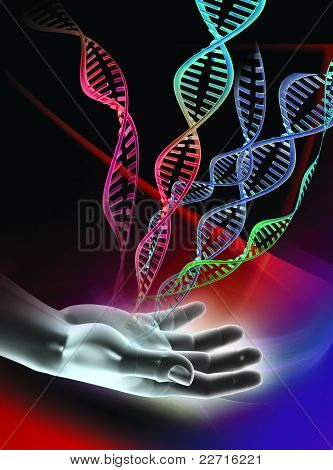 DNA molecules artwork
