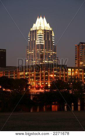 Centro de Austin, Texas en la noche