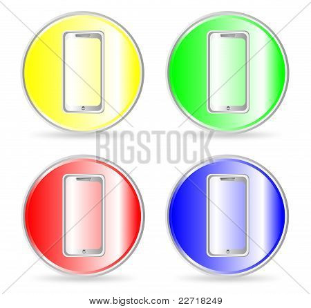 Phone icons, buttons