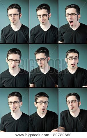 Young Man Expressions