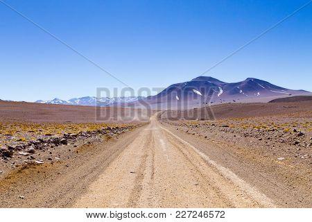 Bolivian Dirt Road Perspective Viewbolivia