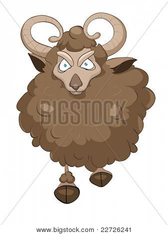 Cartoon Character Goat