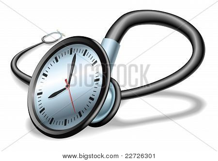Medical Time Stethoscope Concept