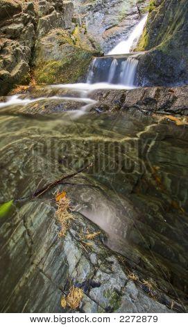 Waterfall Over Pool