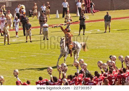 Florida State Mascots Chief Osceola And Renegade