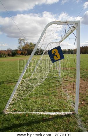 Side View Of A Goal