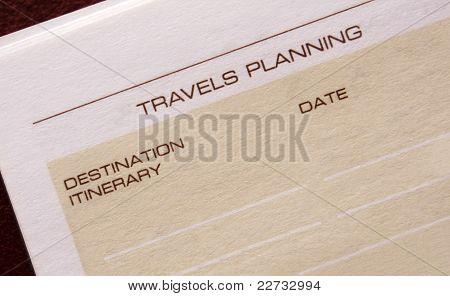 Travels planning