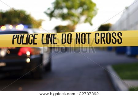 linha de polícia
