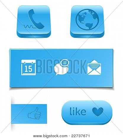 like and call buttons, usefull pictograms