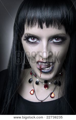 Fashion Portrait Of Woman Vampir