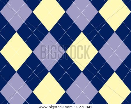 Blue And Yellow Argyle