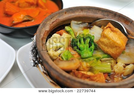 Vegetable Claypot Delicacy