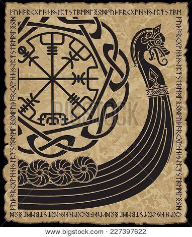Warship Of The Vikings Drakkar