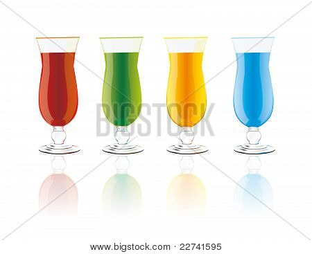 vector color drinks